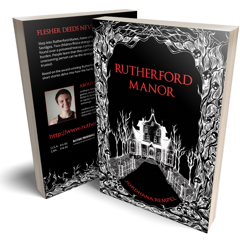 Rutherford Manor - Flesher Deeds Never Rest - Short Stories | Jordhana Rempel